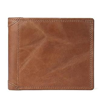 Genuine Cow Leather Men Wallets With Coin Pocket Vintage Male Purse & Card