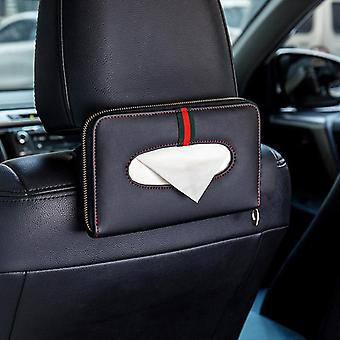 Visor Tissue Boxes Holder Pu Leather Paper Box Cover Case Car Styling Auto