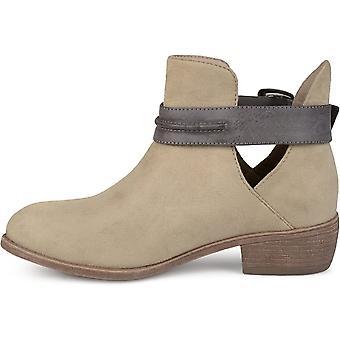 Brinley Co naisten Myra Faux mokkanahka pinottu kantapää saapikkaat