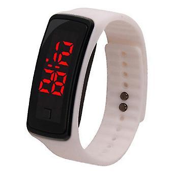 男性女性デジタル LED スポーツウォッチカジュアル シリコン腕時計 ブレスレット
