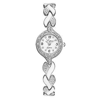 Βραχιόλι ρολόγια γυναίκες, πολυτελή κρυστάλλινα ρολόγια χειρός, ρολόι casual χαλαζία