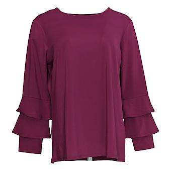 Joan Rivers Classics Collection Women's Top Jersey Knit Purple A342269