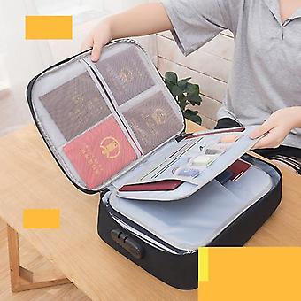 Document Bag Capacitate mare de călătorie Pașaport Portofel Card Organizator Men's