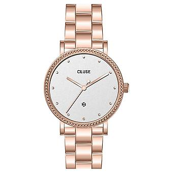 Cluse Cw0101209009 Le Couronnement White & Rose Gold Stainless Steel Ladies Watch