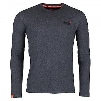 Superdry Orange Label Twill Texture LS T-Shirt Grigio Z6Y