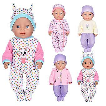 Ebuddy 7pc poppenkleren zijn bodysuit hoed en een jas voor 43cm pasgeboren baby poppen / 15 inch baby d