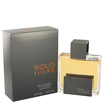 Solo loewe eau de toilette spray by loewe 444019 75 ml