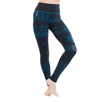 Balance Womens Seamless Organic Yoga Leggings - Blue/Black