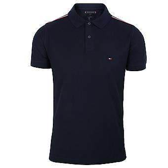 Tommy hilfiger men's shoulder detail desert sky polo shirt