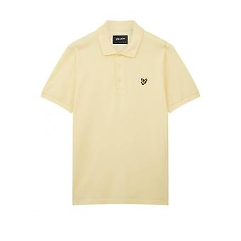 Lyle & Scott Mens Plain Polo Shirt Regular Fit Citroen