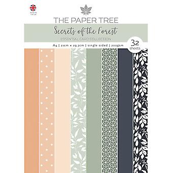The Paper Tree - Secrets of the Forest Collection - A4 Essential Colour Card Pack