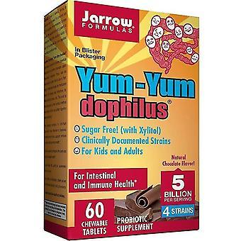 נוסחאות Jarrow YumYum דופילוס 5 מיליארד כרטיסיות לעיסת שוקולד 60