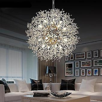 Crystal Chandelier Light, Led Nordic Cristal Bursts, Globe Pendant, Hanging