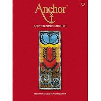 Anchor Counted Cross Stitched Kit PCE5011 Wilsons Bird Paradise Bookmark 14.5 x 5.5cm