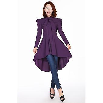 Chic Star Plus Size Victorian Romance Top In Purple