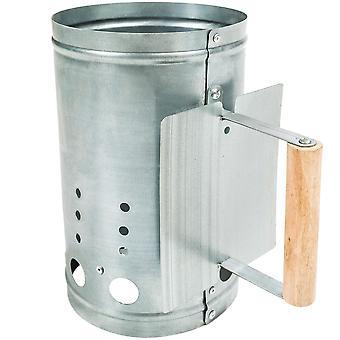 tectake Grillstarter med varmeskjold - sølv