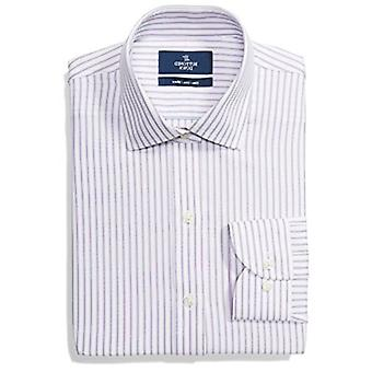 Merk - BUTTONED DOWN Men's Slim Fit Stripe Dress Shirt, Supima Katoen Non-Iron