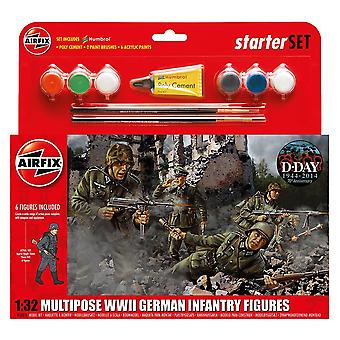 Airfix A55210 Multipose WWII German Infantry Figures 1:32 Model Kit