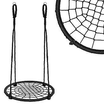 Φωλιά swing γύρο - 120 cm - Μαύρο - Πλεκτή δομή