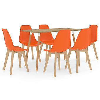 vidaXL 7-tlg. Essgruppe Orange