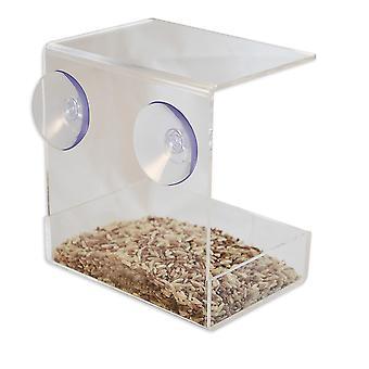 חלון OnDisplay נטען מגש מאכיל ציפורים אקרילי ברור