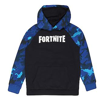 Fortnite Boys Camo Sleeve Logo Pullover Hoodie