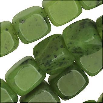 Dakota Stones Gemstone Beads, Green Jade, Nugget 8x10mm, 8 Inch Strand