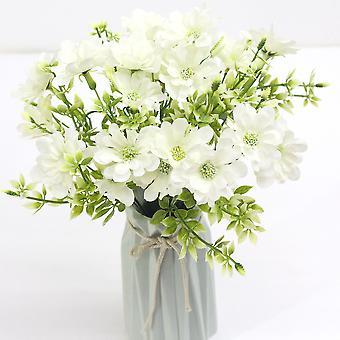 5pcs planta de agua de flores artificiales crisantemo boda ramo flores secas flor falsa
