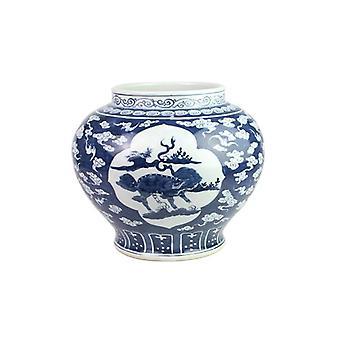 China unicorn high hand paint skill porcelain vase