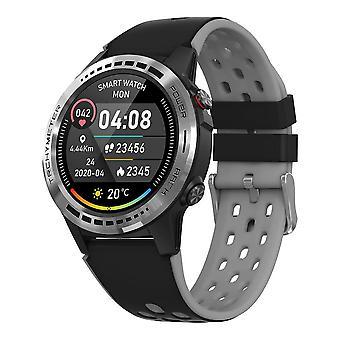 Smart WatchGPS Männer Frauen Kompass Barometer Höhe Volle Smart Uhren (schwarz)