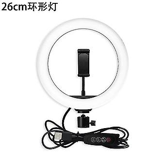 Soporte en vivo llenar luz teléfono móvil selfie palo fotografía trípode led ring beauty light