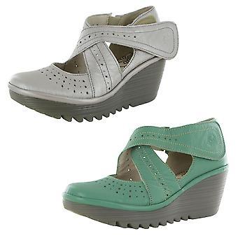 FLY London Womens Yepe Cross Strap Mary Jane Shoes