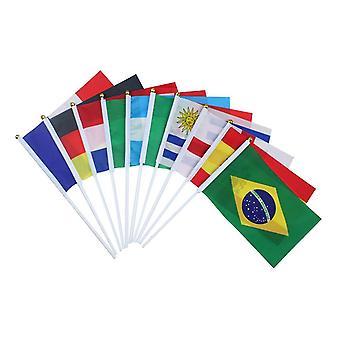 14X21cm כפי שמוצג 32pcs h החזיק דגל לאומי קטן על מקל העולם הבינלאומי המדינה מקל דגלים כרזות עבור קישוט המפלגה בר dt4170