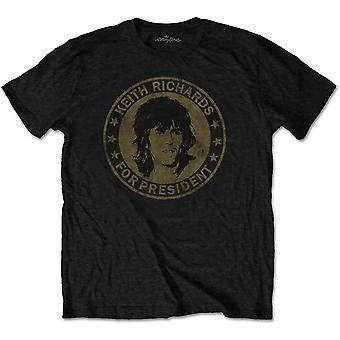 The Rolling Stones - Keith for president Menn XX-Large T-skjorte - Svart