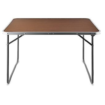 Aluminium Camping Table, Garden Table, Collapsible Table, Wooden Top
