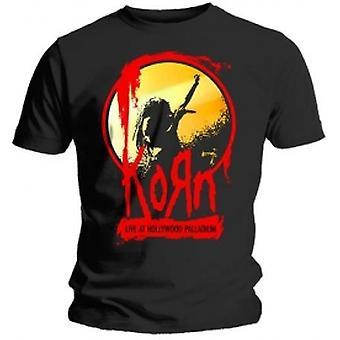 Korn Stage Mens Black T Shirt: Large