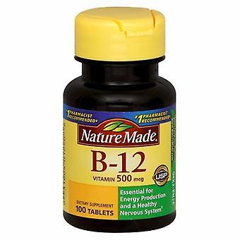 Nature Made Vitamin B-12, 500mcg, 100 Tabs