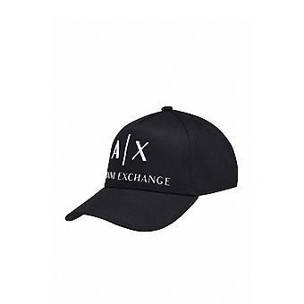 Armani Utbyte Mens Baseball Keps Med A x Logo Svart