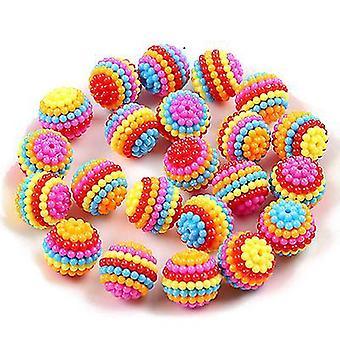 Contas destacáveis de bayberry ball handmade cocar wedding bridal flower ball beads (14mm)