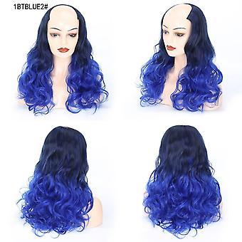 Μακρύ σγουρό u μέρος μισό κλιπ περούκας σε ombre συνθετικό κανένα παχύ κλιπ κεφαλής στην επέκταση τρίχας για τις γυναίκες 24 ίντσα
