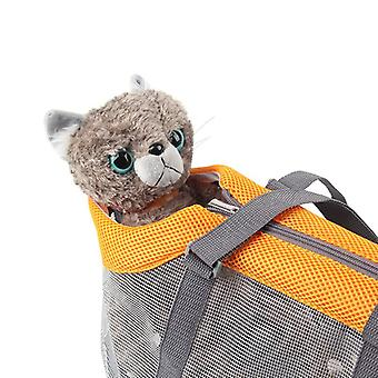 المحمولة شبكة الحيوانات الأليفة حقيبة الحيوانات الأليفة حاملات حقيبة يد سعة كبيرة قابلة للطي حقيبة القط
