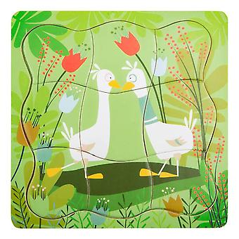 Small Foot Children's Pair of Ducks Layer Puzzle