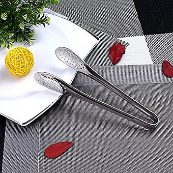 Stainless Steel Food Tongs Bbq Kitchen Cooking Food Serving Buffet Utensil Clip