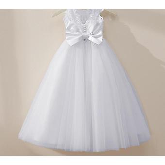 Vestido de bola de encaje de tul hinchado, vestidos de flores