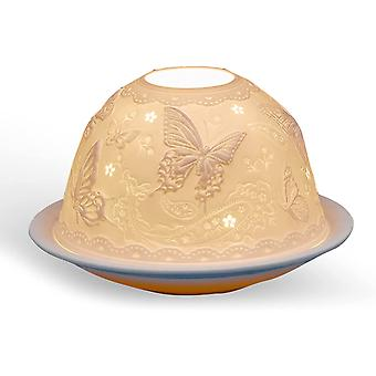 Light Glow Dome Tealight Holder, Butterfly Paradise