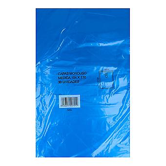 Capa de cabeleireiro (104 x 130 cm) Azul Descartável (30 uds)