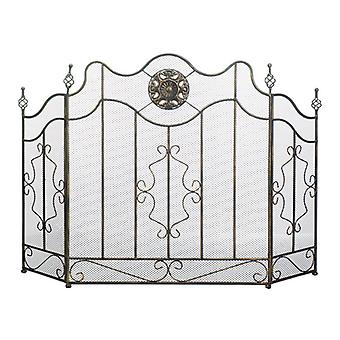 Accent Plus Fireplace Screen with Circular Ornament, Pack of 1