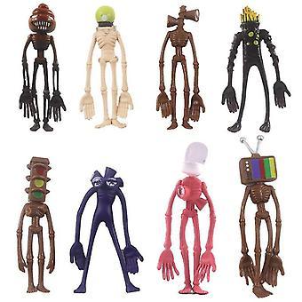 (8pcs/Set) 8pcs Siren Head Figures PVC Kids Toys Collection