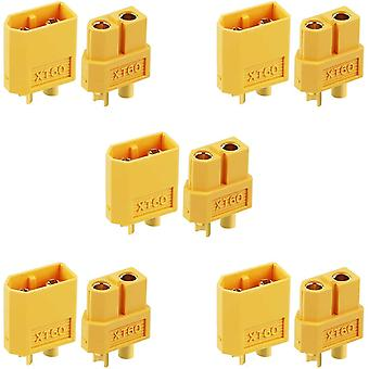 5 Pairs of xt60 connectors for rc lipo model batteries