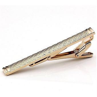 Miesten klassinen tavallinen kultainen ruostumaton teräs standardi solmio clip lukko tangot nastat